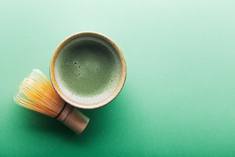 Chasen y chawan para té matcha