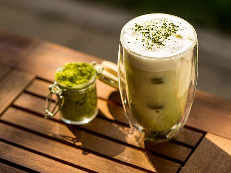 Café helado con té matcha